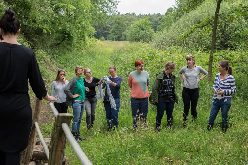 A garden field trip and guided nature walk